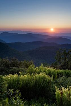 Sunrise at Tennant Mountain Area, Blue Ridge Parkway, North Carolina by Howie Garber