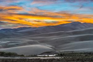 Sunset at Great Sand Dunes National Park by Howie Garber