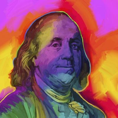 Ben Franklin Pop Art by Howie Green