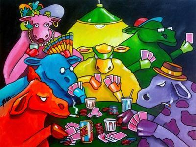 Cows Poker by Howie Green