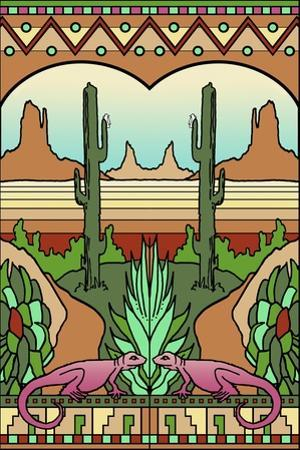 Desert-scene by Howie Green