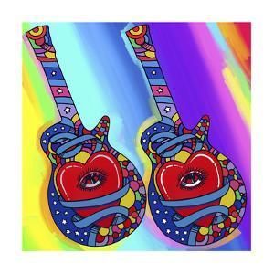 Guitars-heart-eye by Howie Green