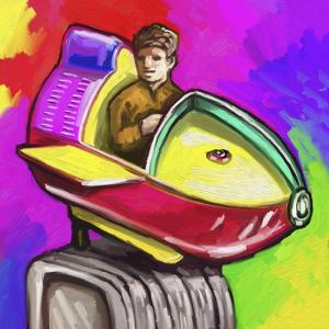 Kiddie Rocket Ride by Howie Green