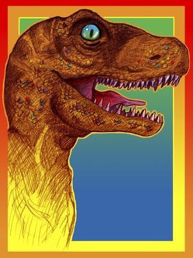 Pop Art Dinosaur 3 by Howie Green