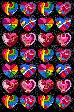 Pop Art Hearts by Howie Green