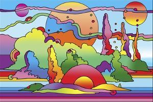 Pop Art Landscape 116 by Howie Green