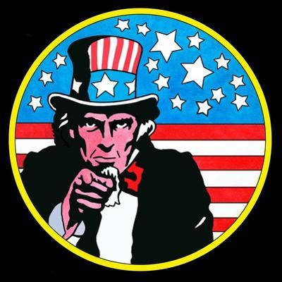 Pop Art Uncle Sam Circle by Howie Green
