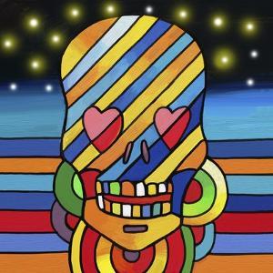 Pop Skull Stripes by Howie Green