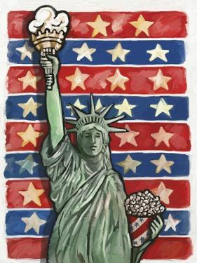 Popcorn Statue Of Liberty by Howie Green