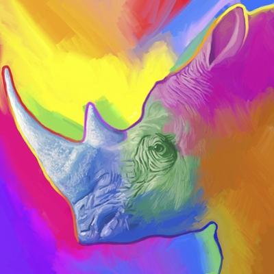 Rhino Pop Art by Howie Green