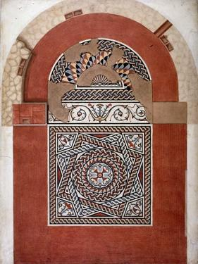 Roman Mosaic Pavement Dating from 300 Ad, Found in Bucklersbury, City of London, 1869 by HR Payne