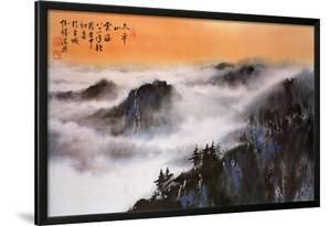 Hseuh Ching Mao Chinese Mountain Scene Art Print Poster