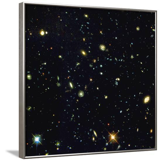 HST Deep-view of Several Very Distant Galaxies--Framed Photographic Print