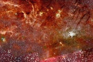 HST Spitzer Composite of Galactic Center Full-field Space Photo Art Poster Print