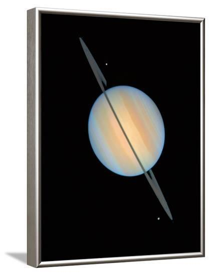 Hubble Image of Saturn--Framed Photographic Print