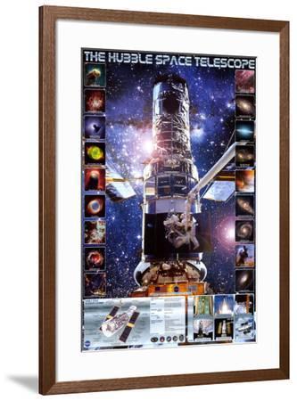 Hubble Telescope--Framed Poster