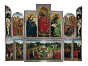 The Ghent Altarpiece or Adoration of the Mystic Lamb by Hubert & Jan Van Eyck