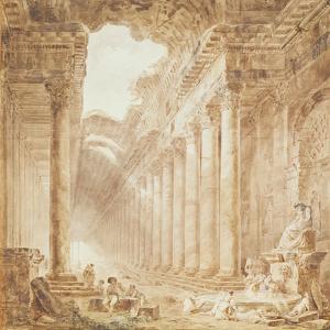 A Colonnade in Ruins, 1780 by Hubert Robert