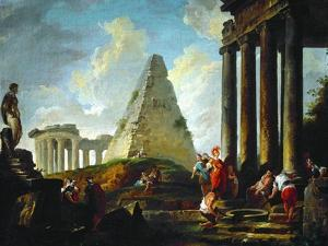 Alexander the Great Before the Tomb of Achilles, 1755-1757 by Hubert Robert