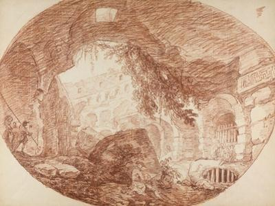 An Artist Seated in the Ruins of the Colosseum, c.1759 by Hubert Robert