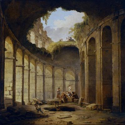 Hubert Robert / The Colosseum, Rome, 1780-1790