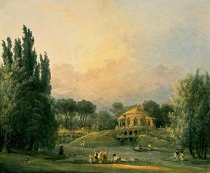 Italian Tempietto in a Park by Hubert Robert