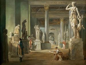 La Salle Des Saisons Au Louvre by Hubert Robert