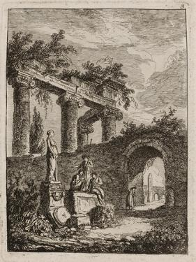 Plate Three from Evenings in Rome, 1763-64 by Hubert Robert