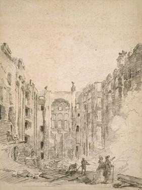 Ruins of the Opera After the Fire of 1781, 1781 by Hubert Robert