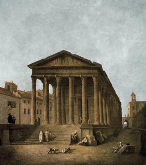 Temple of Augustus in Nimes, 1783 by Hubert Robert