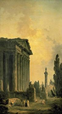 Temple Ruins by Hubert Robert