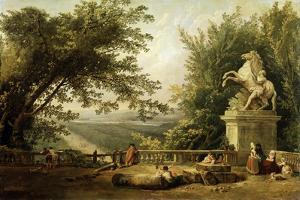 Terrace Ruin in a Park, C1780 by Hubert Robert