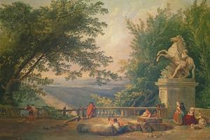 Terrace Ruins in a Park, C.1780 by Hubert Robert