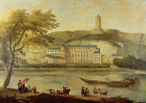 The Chateau De La Roche-Guyon by Hubert Robert
