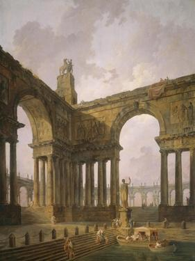 The Landing Place, 1787-88 by Hubert Robert