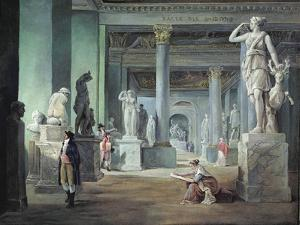 The Salle Des Saisons at the Louvre, C. 1802 by Hubert Robert
