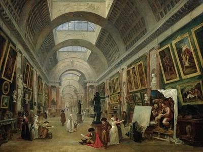 View of the Grand Gallery of the Louvre, 1796