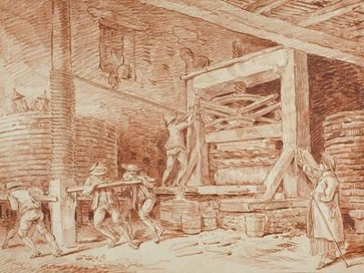 Wine Press, c.1759 by Hubert Robert