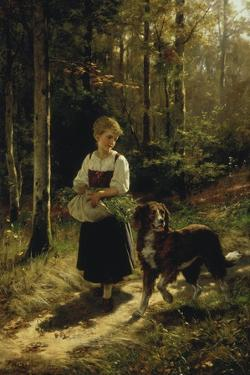 The Walk in the Forest, 1883 by Hubert Salentin