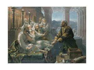 Judas and the Thirty Pieces of Silver for Betraying Christ by Hubert von Herkomer