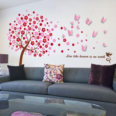 Huge Pink Tree with 3D Pink Buttefly