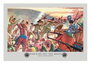 Knocking Out the Moros by Hugh Charles Mcbarron Jr.
