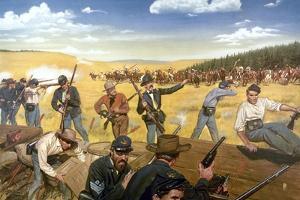 Wagon Box Fight, 1867 by Hugh Charles Mcbarron Jr.