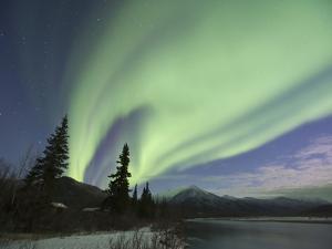Aurora Borealis, Koyukuk River, Alaska, USA by Hugh Rose