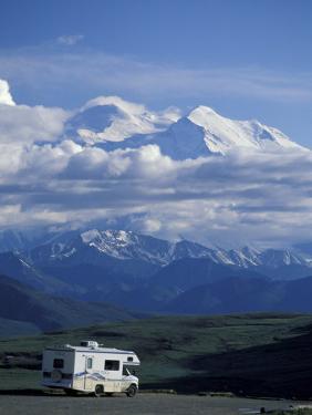 Mt. McKinley and RV, Denali National Park, Alaska, USA by Hugh Rose