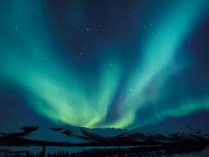 Northern Lights, Endicott Mountains in the Brooks Range, Alaska by Hugh Rose