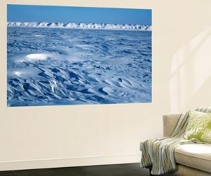 Wind Blown Snowdrift, Arctic Coastal Plain, Alaska, USA by Hugh Rose