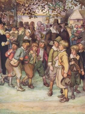 A Crowd of Eager and Curious Schoolboys by Hugh Thomson
