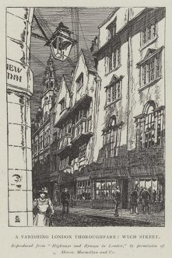 A Vanishing London Thoroughfare, Wych Street by Hugh Thomson