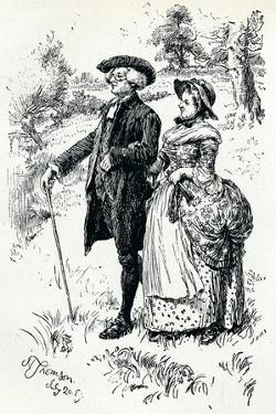 An Illustration from the Vicar of Wakefield, 1889, (1907) by Hugh Thomson